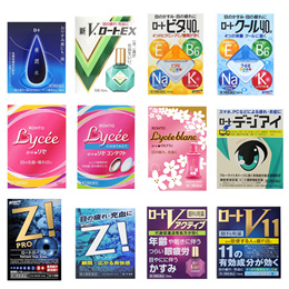 [Directly From Japan] ROHTO eye drop series / Lycee / Rohto Z! / Digi Eye / V Active / Lycee blanc / Shin V/ V11 / Vita 40α / cool 40α