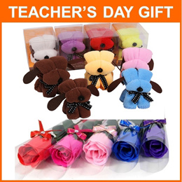 Teachers Day Gifts from $1 ❤ Cute Dog Towel ❤ Bookmark ❤ Roses