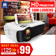 ⭐Best Seller⭐T22L T23K  HD PROJECTOR For Films.TV.Xiaomi The Cheapest 1080P Portable Device