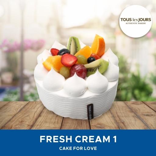 [DESSERT] Tous Les Jours/ Fresh Cream Cake #1/ Mobile-Voucher Deals for only Rp160.000 instead of Rp160.000