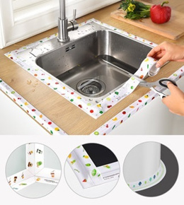 3.2M Kitchen Sink Waterproof Sticker/Anti-mold Sealing Strip Tape/Bathroom Toilet Gap Sticker