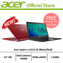 [NEW] Acer Aspire 1 (A114-32) 14 HD 4GB DDR4 Ram/32GB eMMC/W10 Light weight Laptop