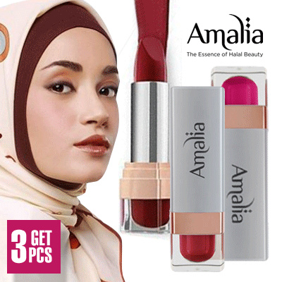 GET 3! Amalia Satin Lipstick Saffron Lips All Variant Deals for only Rp95.000 instead of Rp175.926