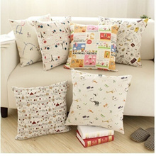 Cotton pillow cover literary small fresh pillow cover sofa cushion covers without core 61230