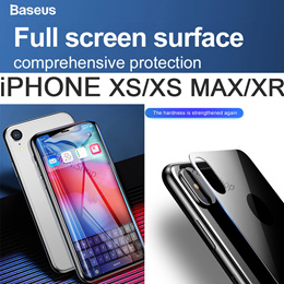 2018 XS MAX Baseus 0.2mm 0.3mm Protective Glass Back Screen Protector For iPhone X XR XS Max