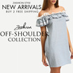 Zashion Summer Off-Shoulder Dress 2016 [Over 40 Style] ~Buy 2 Free Shipping~