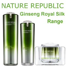 Nature Republic Ginseng Royal Silk Watery Cream / Toner / Essence