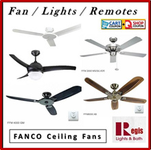 [BEST Selling] Fanco Ceiling Fan FFM3000/FFM2000/FFM4000/FFM6000/ACON Light Kits+Remote+LED Bulb