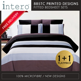 FLAT PRICE Hillcrest 900TC Fitted Bedsheet set with pillow case bolster case