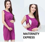 ♥MATERNIY EXPRESS♥ MATERNITY DRESS NURSING DRESS CONFINEMENT PAJAMAS PYJAMAS
