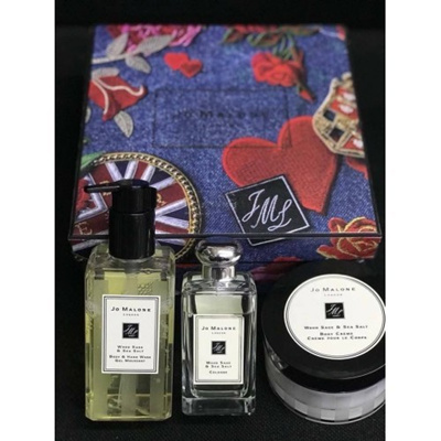 [Stock Clearance]Jo M alone 3in1 Gift Set -Wood Sage & Sea Salt (Cologne, Body Wash & Body C