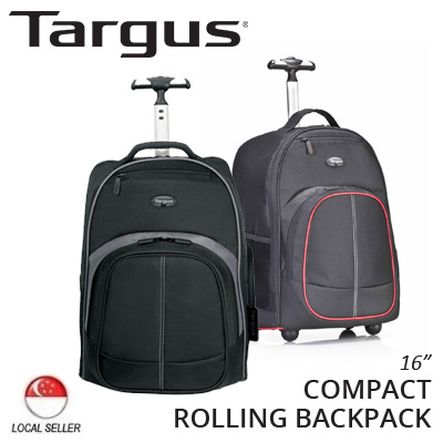 Qoo10 - Targus Compact Rolling Backpack / Black/Grey / Black/Red ...