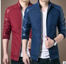 Spring men s casual large size jacket young Korean Slim stand collar male jacket JK653