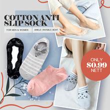 [0.99 Nett ] Cotton Anti Slip Sock Men / Women Socks /  Ankle Socks / Boat Sock / Invisible Socks