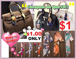 $1.00 ONLY! /Small Scarf/ Twilly Bag Scarf/ HairBand/ Tie/ MultiPurpose Scarf/ Ribbon Bow/ Present