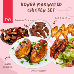 [CSTAY] Bundle of 5 Honey Marinated Chicken *Antibiotic Free* (Raw)(Frozen) 5 Choices