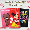 [ LIMITED EDITION ] HANDUK KARAKTER 72 X 144 CM