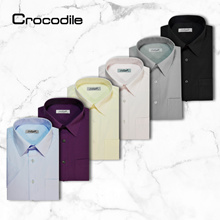 ★CROCODILE OFFICIAL STORE★ EASY CARE MENS SHORT SLEEVE SHIRT Regular FIT