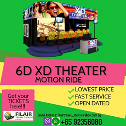 [Fil Air] 6D XD Theater Ride / BEST PRICE GUARANTEE / E-TICKET / HASSLE-FREE
