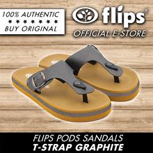 ★NEW★[Flips™]★GRAPHITE T-Strap Flips Pods Sandals/Unisex Sandal/Contoured Footbed/Comfort Sandal