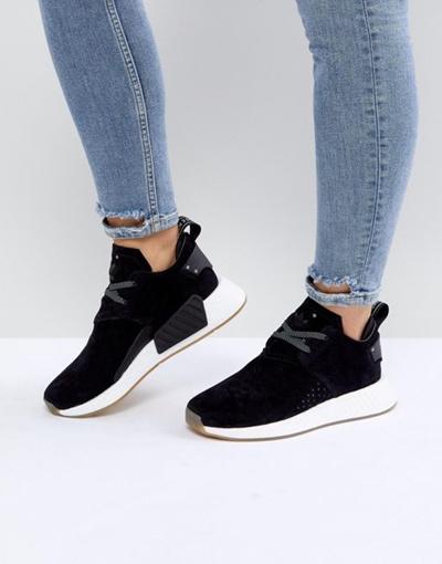 15b32db5ba59 Qoo10 - adidas Originals NMD C2 Sneakers In Black Suede   Shoes