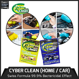 CYBER CLEAN★Swiss Formula 99.9% BACTERICIDAL Effect. Clean Mobile Phones, Keyboard, Toys, Difficult Reach Gaps n Crevices! Environmental Friendly. Trap Bacteria / Multiple Times Re-usability.