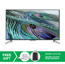 [RM3,599.00 After Coupon Applied] Sharp 60-inch UHD LCD TV with Easy Smart SHP-LC60UA440X - FREE Sharp CCTV Kit, Sharp AQUOS Ninja Backpack and Special Digital Coupon worth RM400  *ORIGINAL PACKAGING/