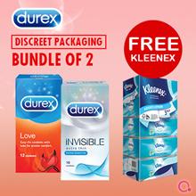 [RB Health] 2 Boxes of Durex Condoms   DISCREET PACKAGING   FREE PREMIUM KLEENEX TISSUE