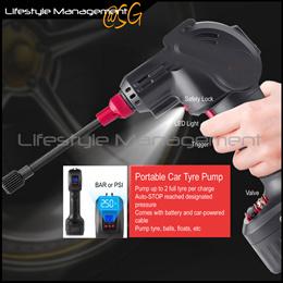 Portable Cordless Car Tyres/Tires Digital Inflator Pump Bicycle/Ball