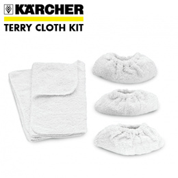 KÄRCHER Terry Cloth Kit 100% Cotton [2 Floor Clothes 3 Terry Covers] (6.960-019.0)