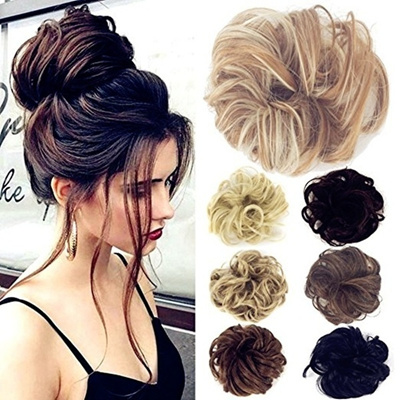 Qoo10 - Hair Pieces for Women Messy Hair Scrunchie Fake Hair Bun ... de3e2b19e