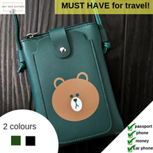 1 DAY CRAZY PRICE🙀 LINE Brown bear sling pouch   2 colours   Can contain passport and essentials!