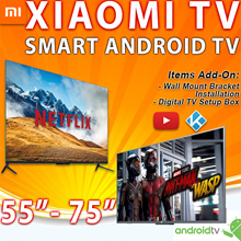 * Smart XIAOMI Android TV V4 55 65 75inch 1yr warranty