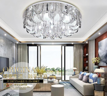 Royal crystal lamp living room lamp round led lamp bedroom lamp dining room lamp lighting.