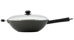 [HELEN S ASIAN KITCHEN] Helen Chen s Asian Kitchen Carbon Steel Wok Stir Fry Pan, 12-inch