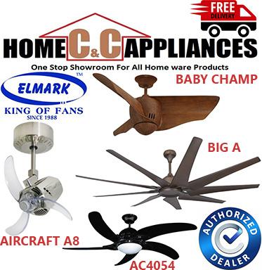 Elmark AC 4054 Ceiling Fan | 54 inch | Baby Champ | Big A | Aircraft A8 |