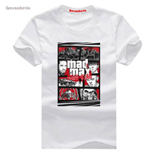 Mashup GTA Mad Max Fury New Fashion Men s T-shirts Cotton t shirts Man Clothing Wholesale