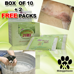 *PH*(10PC BOX WITH 2 FREE SACHETS ) HERBAL BATH SOAK (FOR DOGS WITH SKIN IRRITATION) by Pet Heritage