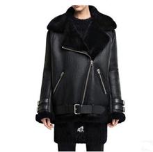 CC men roll over furs winter fur integrated men wear loose coatwith velvet thickening