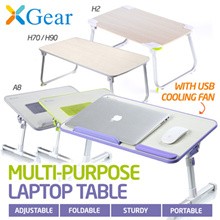 XGear Foldable Laptop Table Desk A8 / H2 / H2L / H70 / H90 / X1 Stand Cooling USB Fan Portable Study