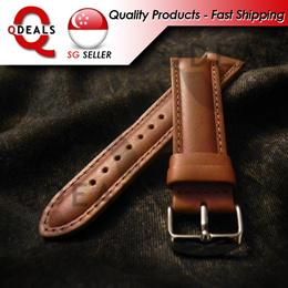Tan Calf Leather Strap Classic Seiko Aviator Chronograph Pilot Diver Pro Diver Luxury Branded