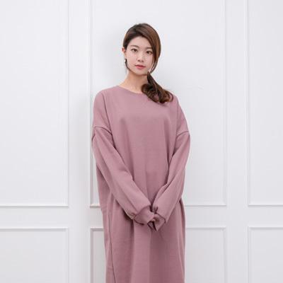 [SSophis] Oversize One piece / 韓国のファッションショップ/起毛さが入った暖かいロングワンピース/ブラウス/カート/パンツ/カーディガン/ジャケット