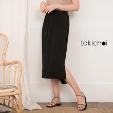 TOKICHOI - Elegant Elastic Waist Split Side Dress-191208