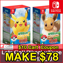 Apply$10 (7~9 Dec)◆Pokemon Lets Go MonsterBall Plus Pikachu Eevee for Nintendo Switch