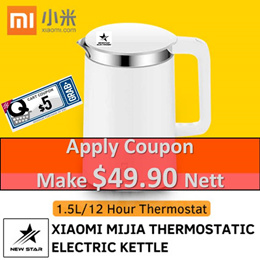 Xiaomi Mijia Thermostatic Electric Kettle 1.5L/12 Hour Thermostat Support / APP Control