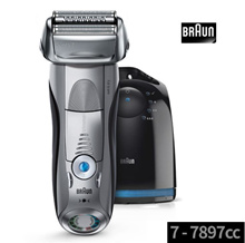 Braun Series 7 7897cc Mens Electric Foil Shaver Wet and Dry Pop Up Precision Trimmer Rechargeable