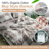 *2020 LATEST* Muji Style Comfort Blanket / 7 colors available / L Size / Bedsheet