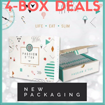 4 Boxes Bundle Deal Passion Detox PDX Slimming Fit (15 pack * 4 Box) Ready Stock Free Shipping