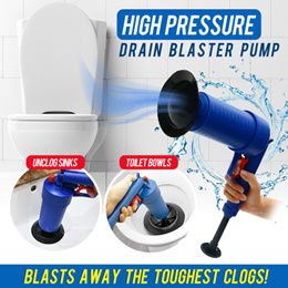 High Pressure Air Drain Blaster Pump Plunger Sink Pipe Clog Remover Toilets Bathroom Kitchen Cleaner