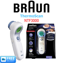 BRAUN - ThermoScan® No touch + forehead thermometer - MODEL: NTF3000 - FREE DELIVERY!